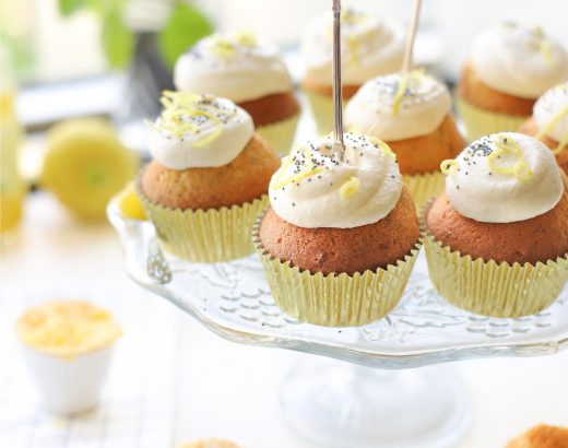 limoncello cupcakes met maanzaad