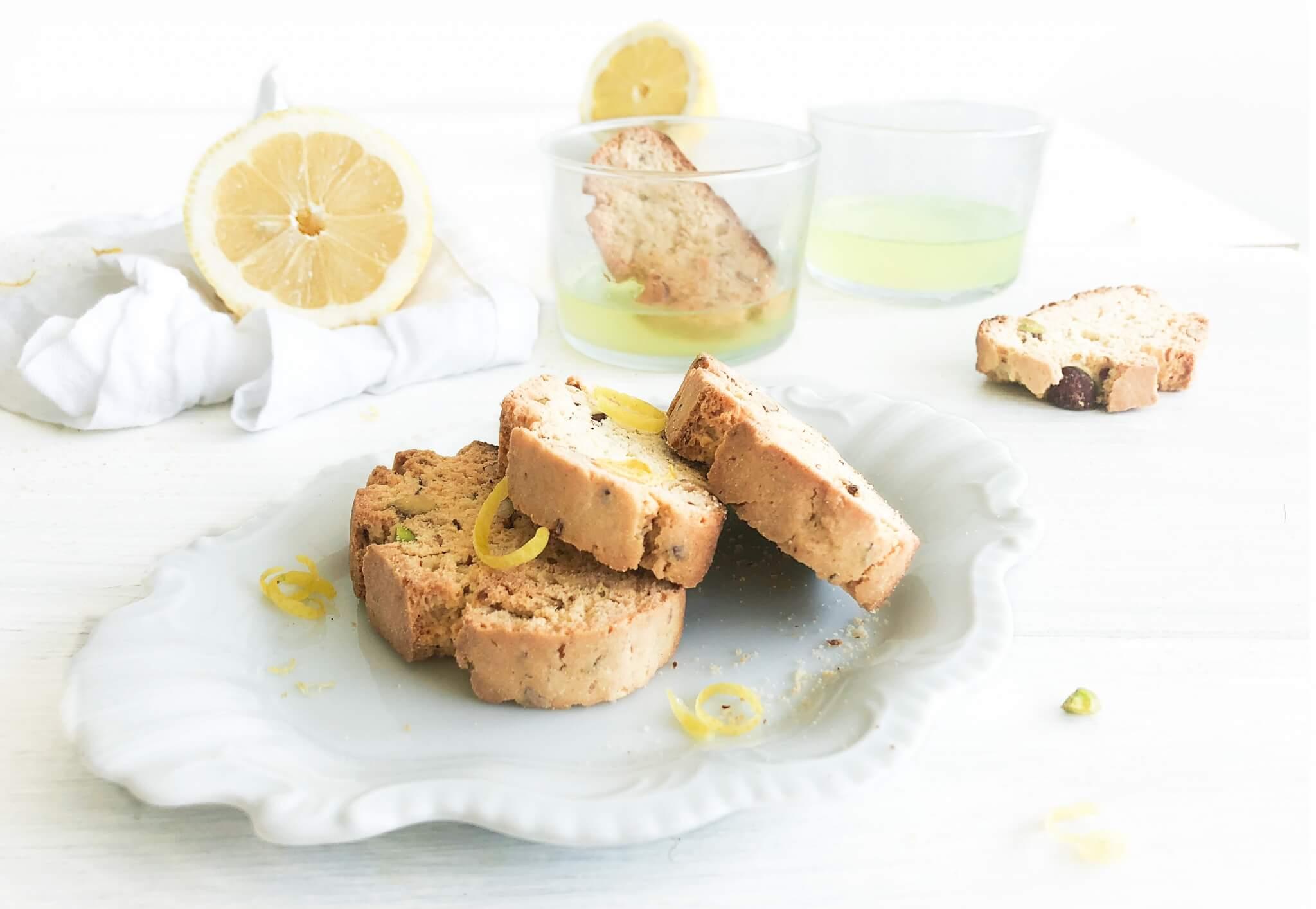 Citroen Cantuccini met pistache