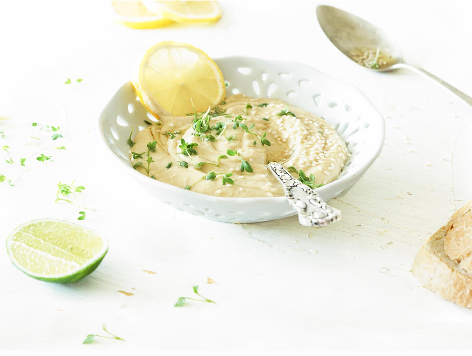 Hummus met citroen