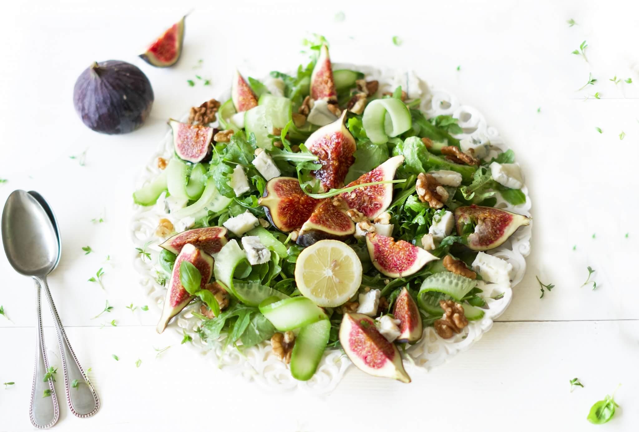 Salade met vijgen en gorgonzola