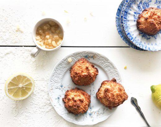 snelle kokosmacronen met gekonfijte citroen