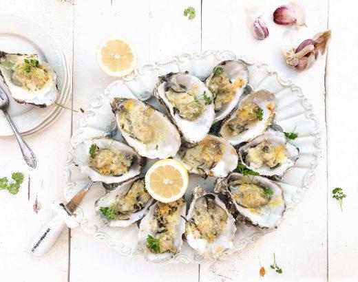 gegratineerde oesters met oude kaas en citroen www.thelemonkitchen.nl