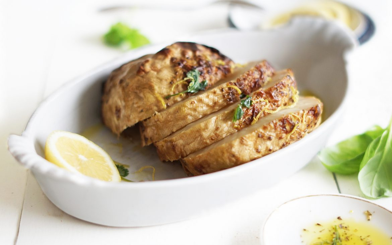 knolselderij steaks met citroen www.thelemonkitchen.nl