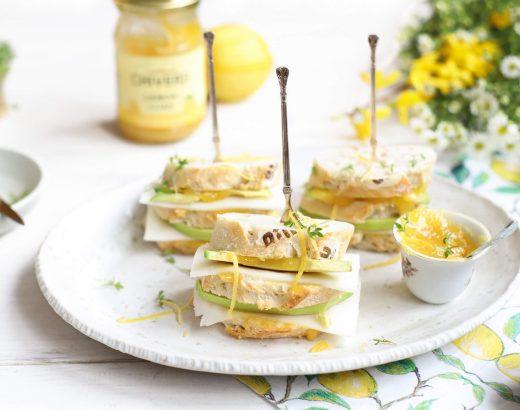 Lemoncurd sandwiches met geitenkaas & avocado www.thelemonkitchen.nl