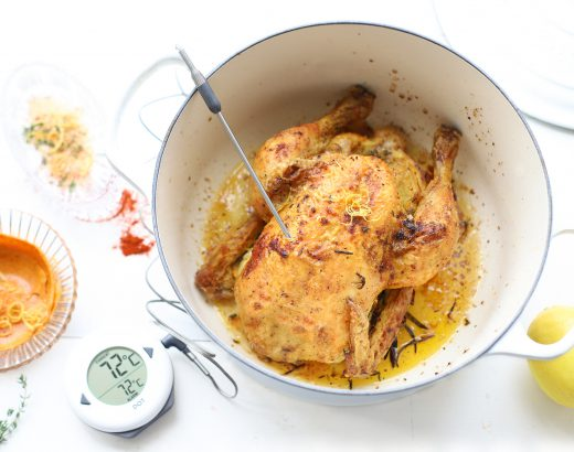 Kip met citroen rub & gerookte paprikaboter 'The Lemon Kitchen