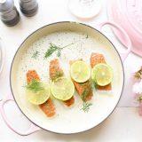 Zalm in limoen-roomsaus met dille 'The Lemon Kitchen