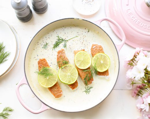 Zalm in limoen-roomsaus met dille 'The Lemon Kitchen