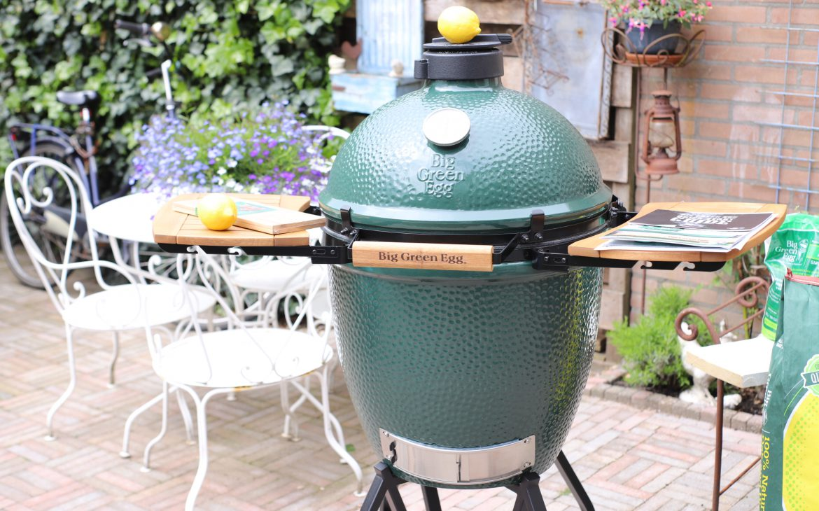 Zalm gemarineerd in Limoncello van de Big Green Egg