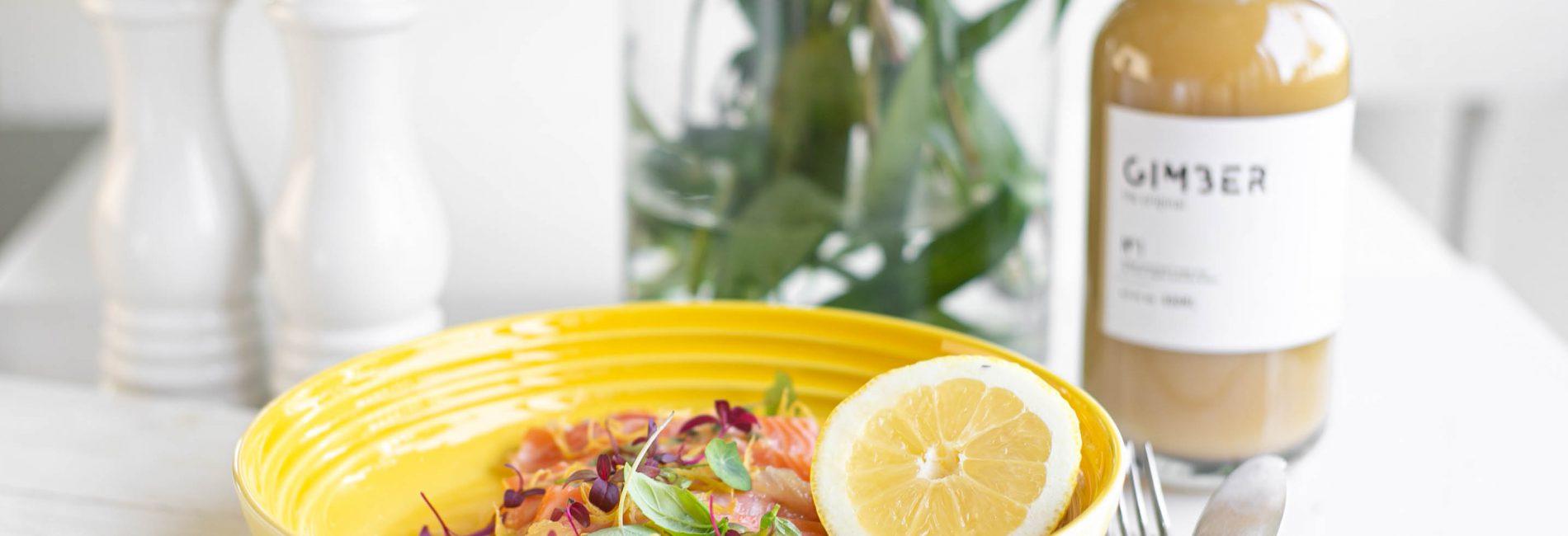 Zalm ceviche met passievrucht, Gimber en citroen