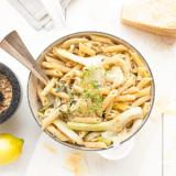 Pasta met venkel, gorgonzolasaus & cashewnoten 'The Lemon Kitchen