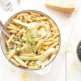 Herbamare Pasta met venkel, gorgonzolasaus en cashewnoten 'The Lemon Kitchen