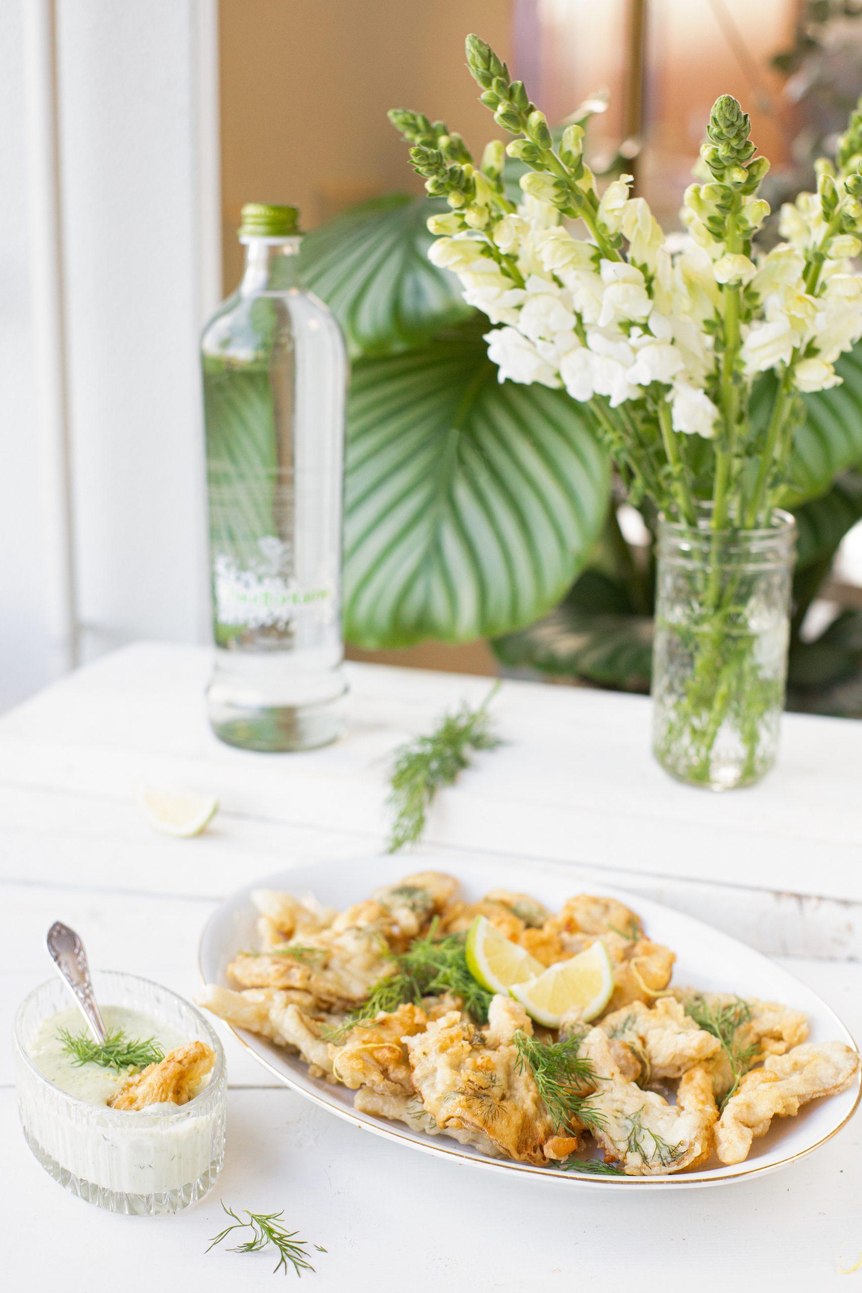 Gefrituurde oesterzwammen met dille mayo 'The lemon kitchen
