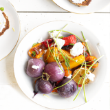 groente uit de oven met geitenkaas