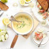 kaas fondue met appel en speck