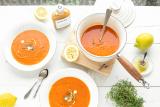 paprika soep met gember en citroen