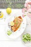 zalm in sojasaus met gember en citroen