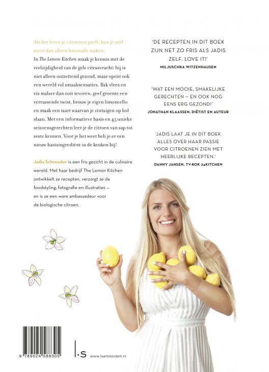 achterkant The Lemon Kitchen Kookboek