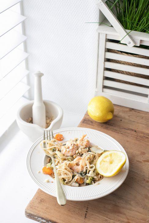 pad thai met gember en citroen