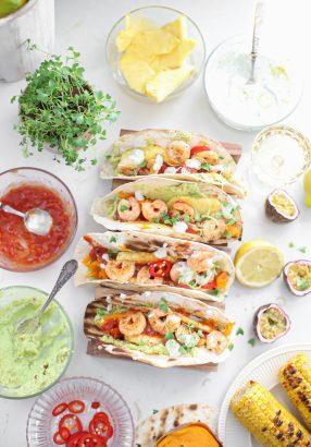 taco's met tequila gamba's en citroen