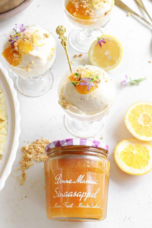 citroen cheesecake ijs met sinaasappel & tijm